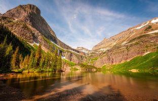 Фото бесплатно Glacier National Park, горы, озеро