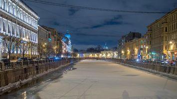 Фото бесплатно Красный мост, Санкт-Петербург