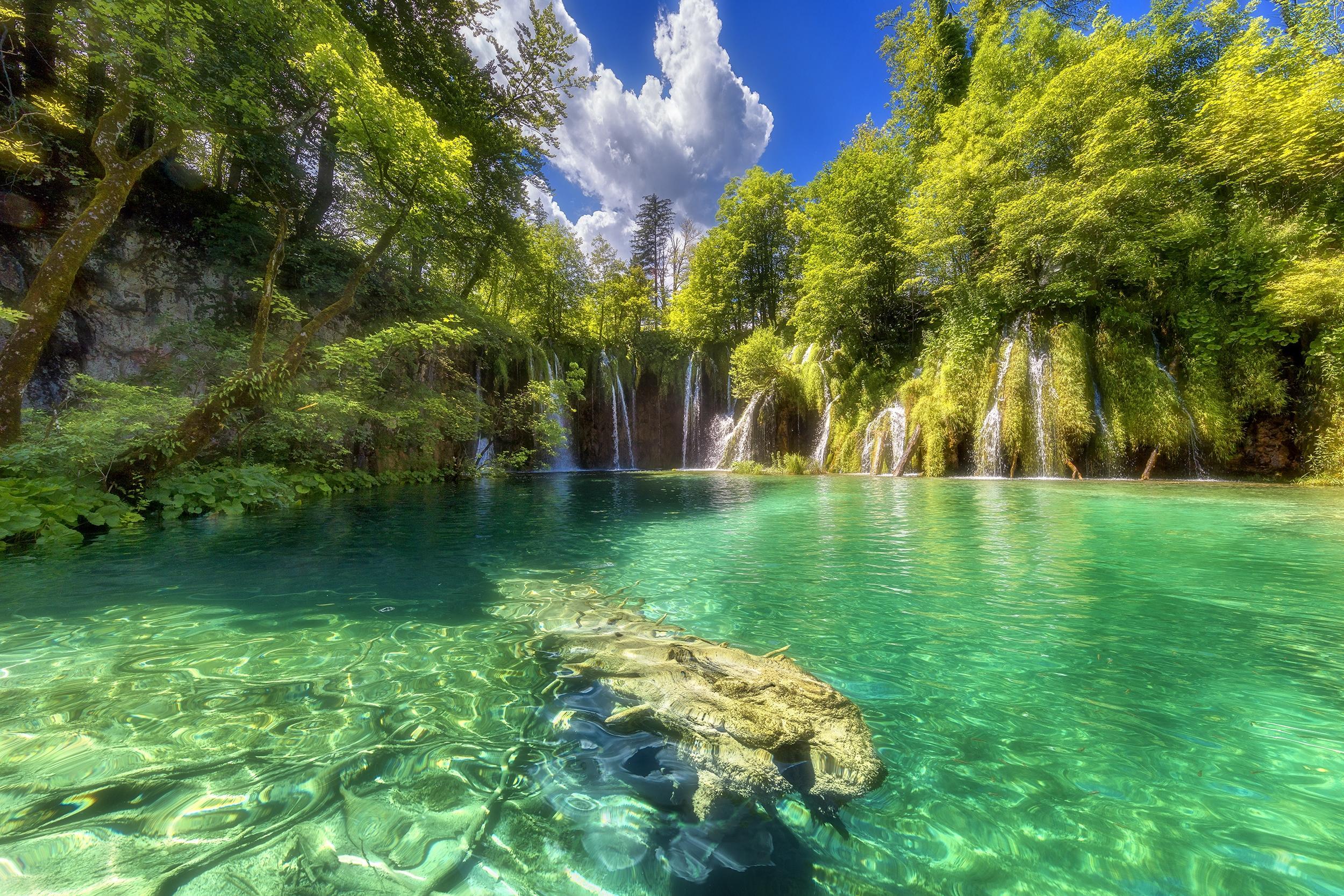 природа озеро водопад  № 768627 загрузить