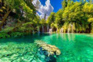 Фото бесплатно Плитвицкие озера хорватский национальный парк, Плитвицкие Озера, Хорватия