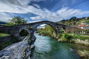 Бесплатные фото Испания,Кангас-де-Онис,Астурия,мост Римский