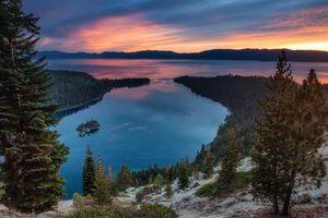 Бесплатные фото Изумрудный залив,Tahoe,озеро,Тахо озеро,Калифорния,Сьерра-Невада,закат