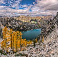 Photo free lake, autumn, mountains