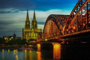 Бесплатные фото Кёльн,Мост,Гогенцоллернов,Рейн,Германия