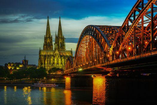 Фото бесплатно Кёльн, Мост, Гогенцоллернов
