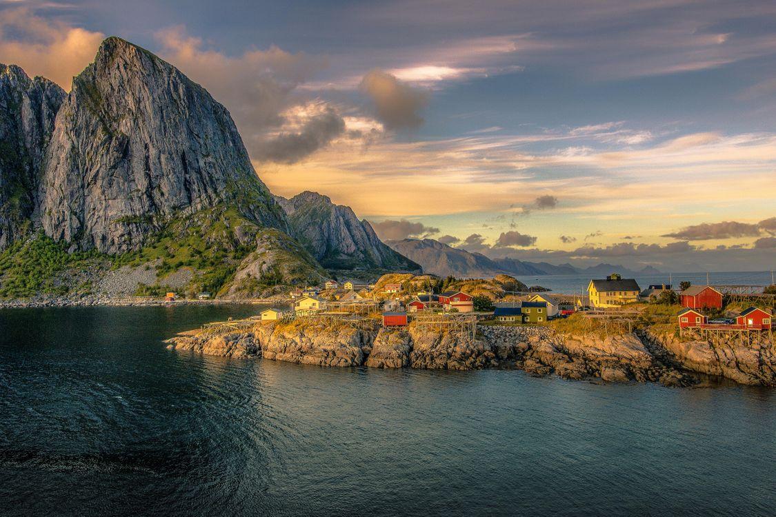 Фото бесплатно Lofoten Islands, Norway, Лофотенские острова, Норвегия, пейзажи