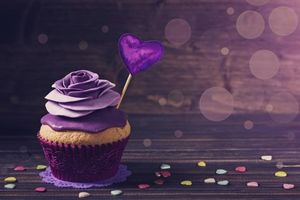 Фото бесплатно кекс, выпечка, сердечко