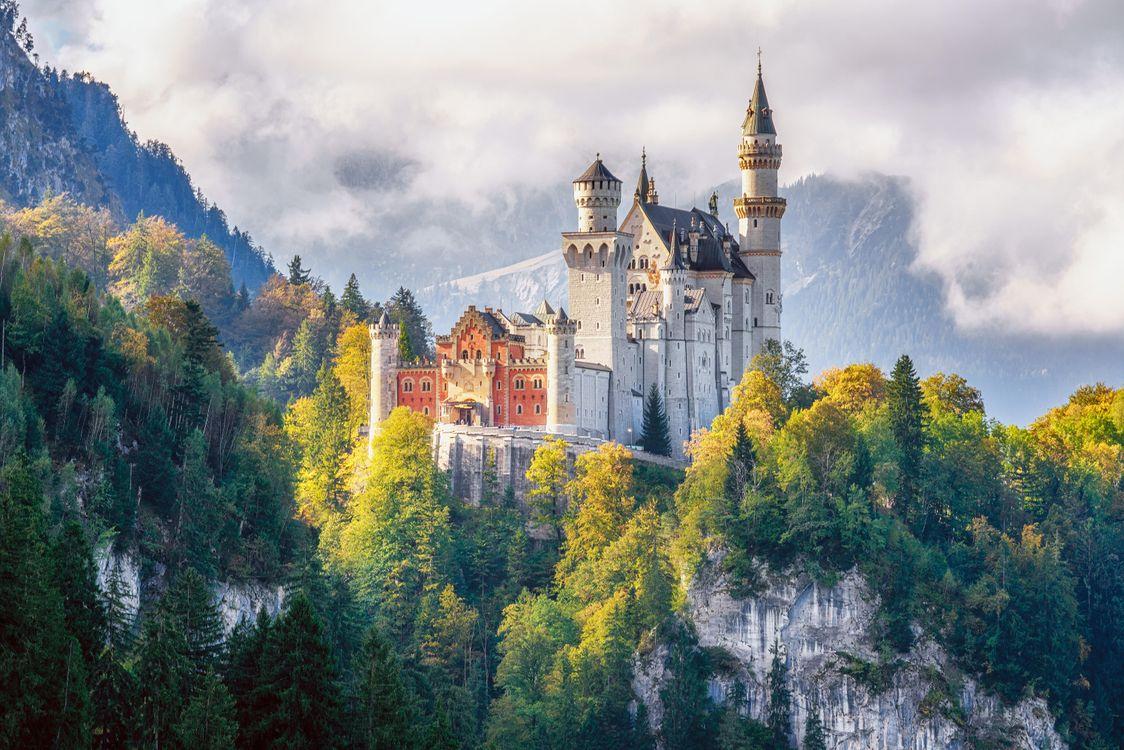 Фото бесплатно Замок Нойшванштайн, Бавария, Швангау, Германия, пейзажи