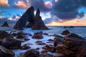 Заставки Ирландия, закат, море