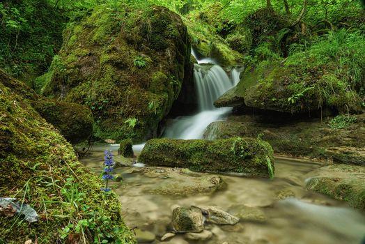 Фото бесплатно речка, водопад, камни