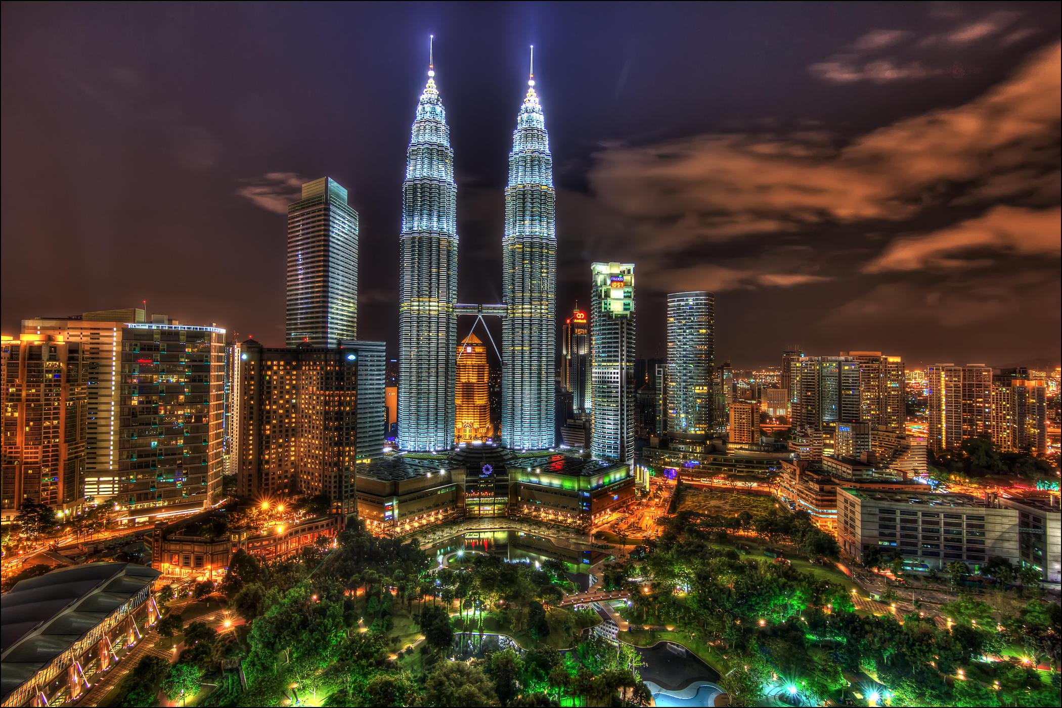 Обои Башни-близнецы, Куала-Лумпур, Малайзия