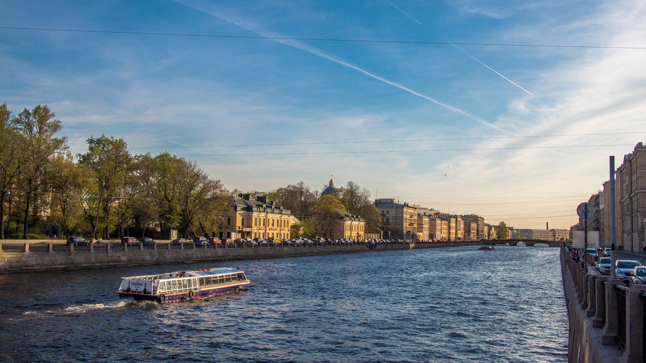 Фото бесплатно Fontanka river, Saint-Petersburg, пейзажи