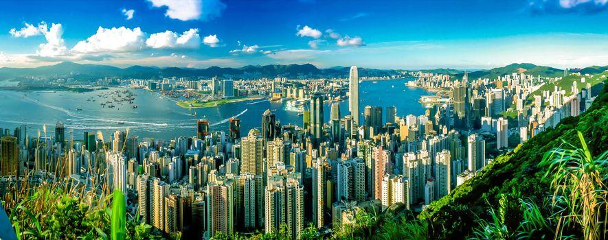 Photo free Hong Kong, city, panorama