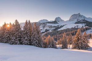 Фото бесплатно пейзаж, зима, горы