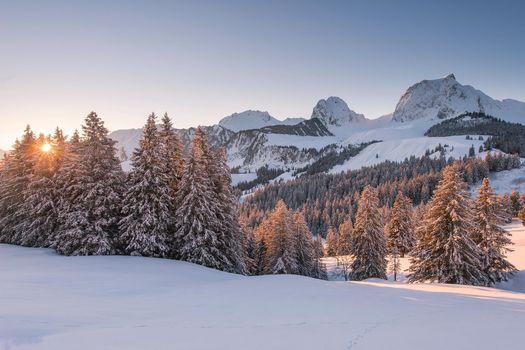 Photo free landscape, winter, mountains
