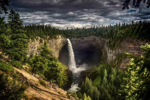 Photo free Wells Gray provincial Park, Canada, waterfall