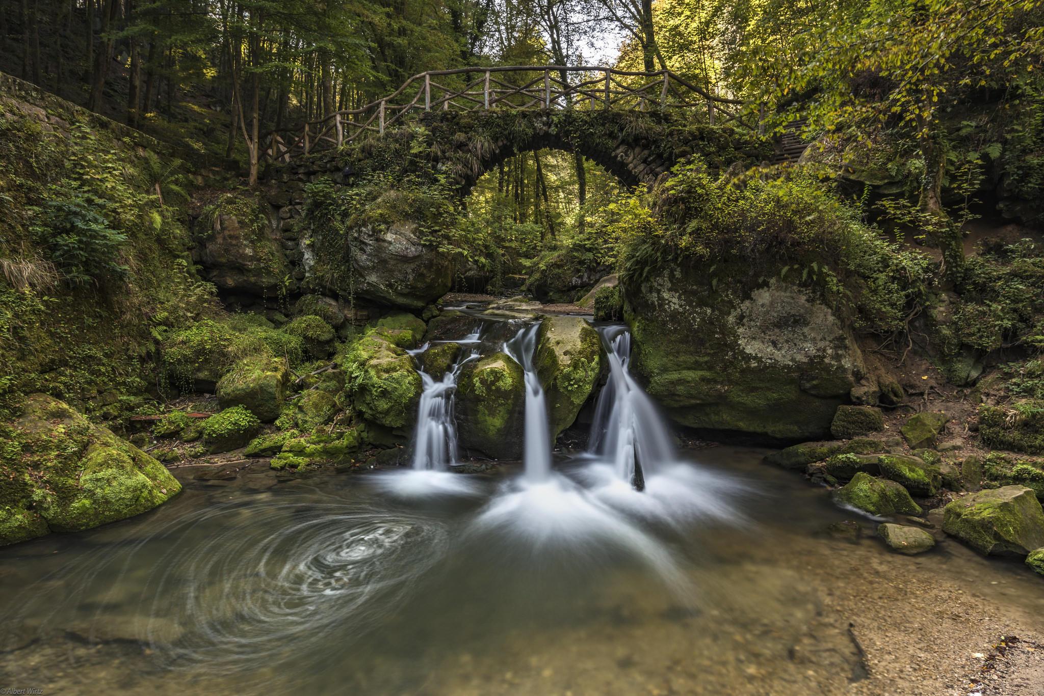 Обои Люксембург, Швейцария, речка, лес