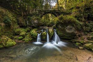 Бесплатные фото Люксембург,Швейцария,речка,лес,деревья,водопад,пейзаж