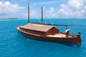 Фото бесплатно Мальдивы, море, лодка