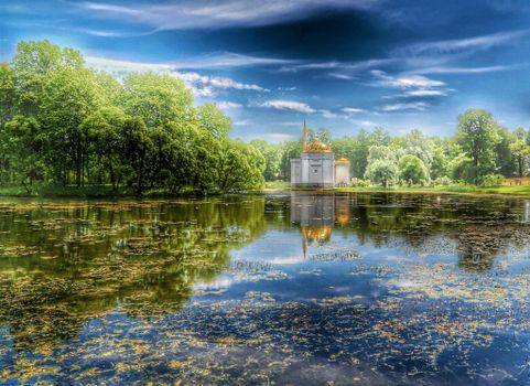 Photo free Ekaterininsky Park, Tsarskoe Selo, Pavilion of the Turkish Bath