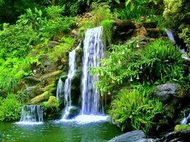 Заставки водопад, скалы, камни