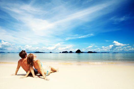 Фото бесплатно море, пляж, пара