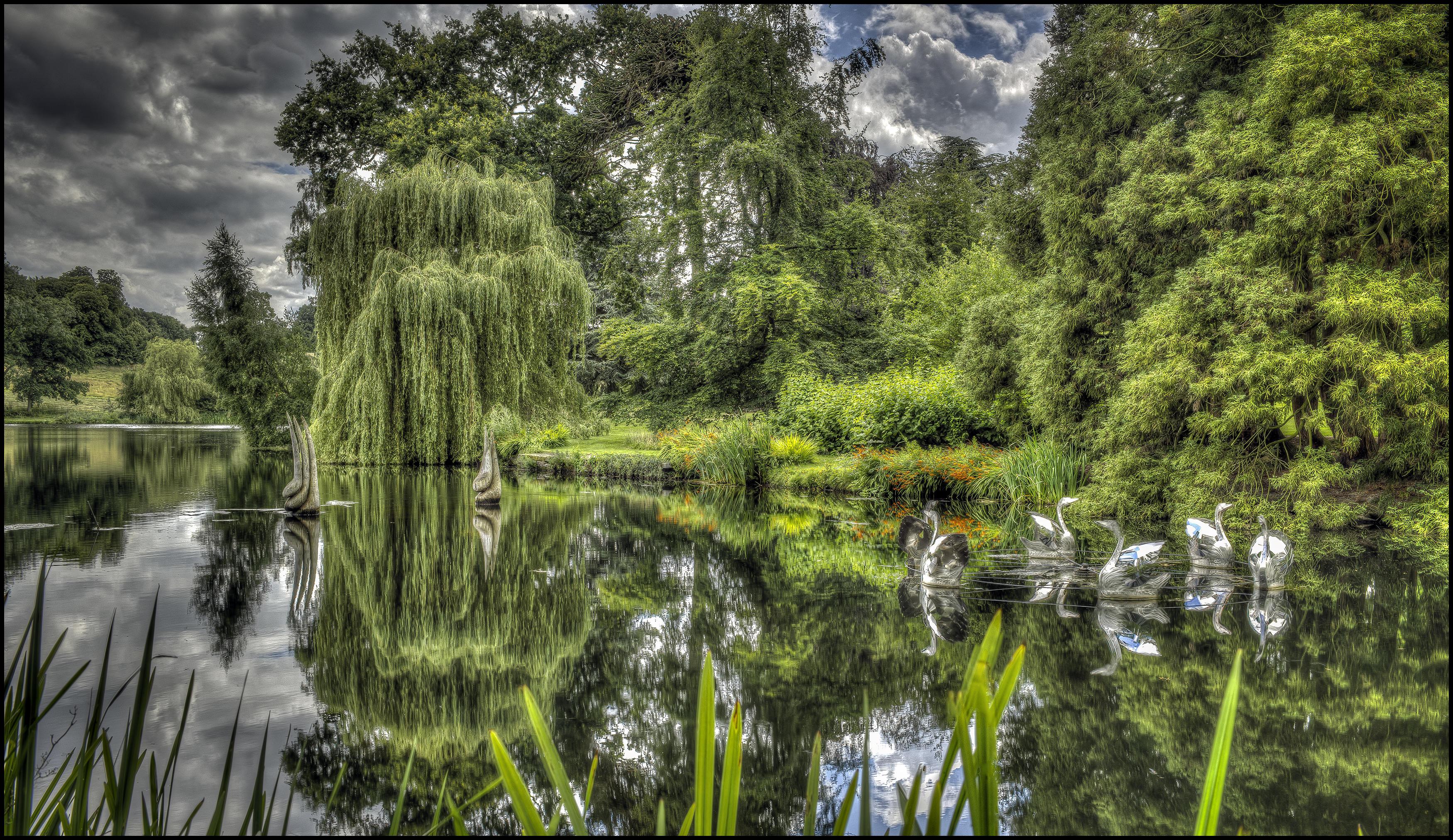 Обои Великобритания, Burghley, сад, парк