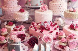 Бесплатные фото tort, prazdnik, rozochki, rozy