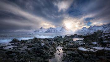 Бесплатные фото закат,море,скалы,камни,горы,пейзаж