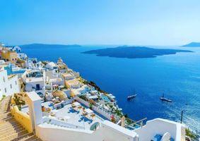 Бесплатные фото Греция,Санторини,море,острова