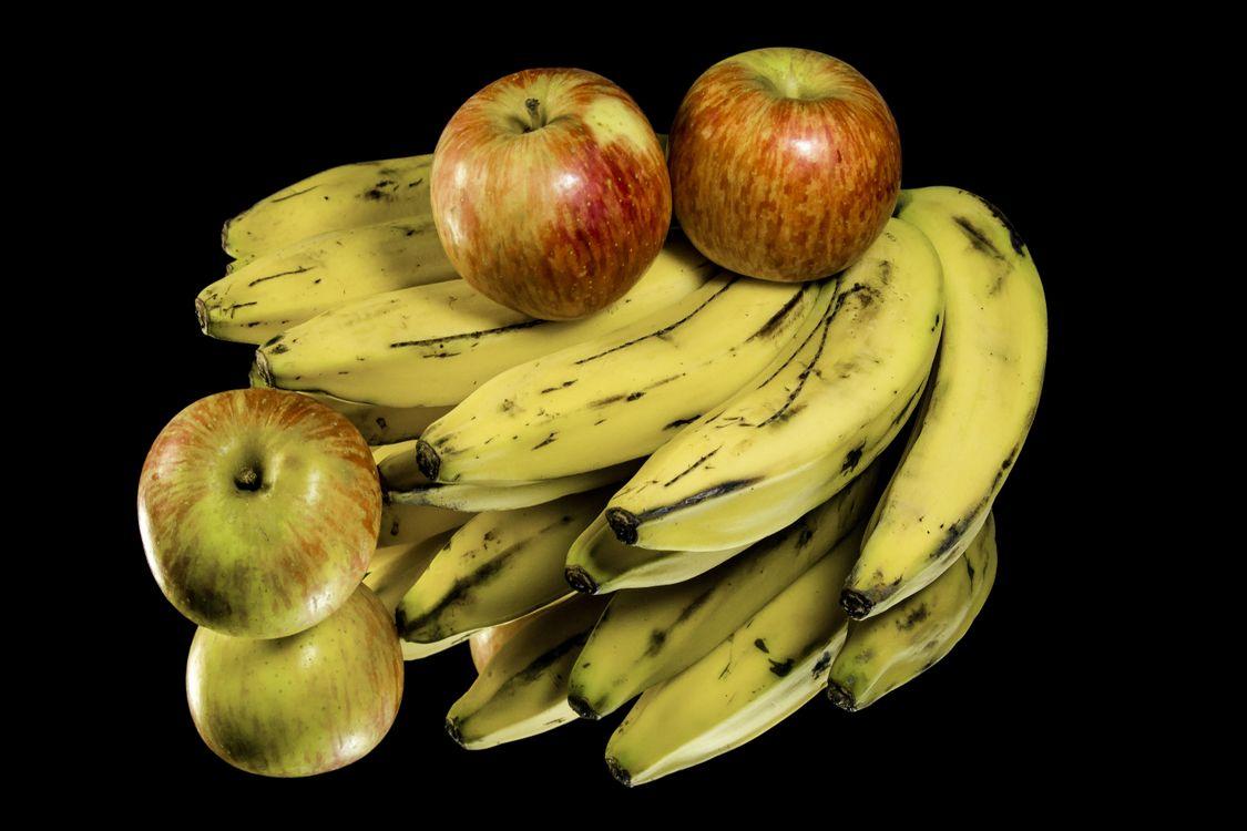 Фото бесплатно бананы, яблоки, десерт - на рабочий стол