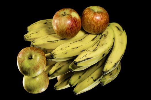Фото бесплатно бананы, яблоки, десерт