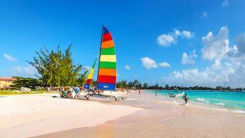 Фото бесплатно море, пляж, яхта