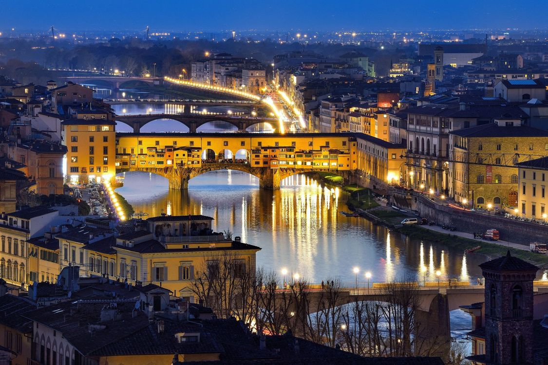 Фото бесплатно Понте Веккио, Флоренция, Италия, город