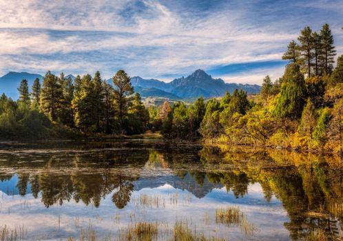 Photo free San Juan Mountains, mountains, forest