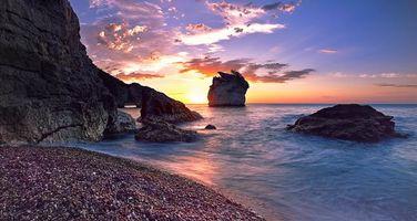 Заставки Италия, Апулия, море