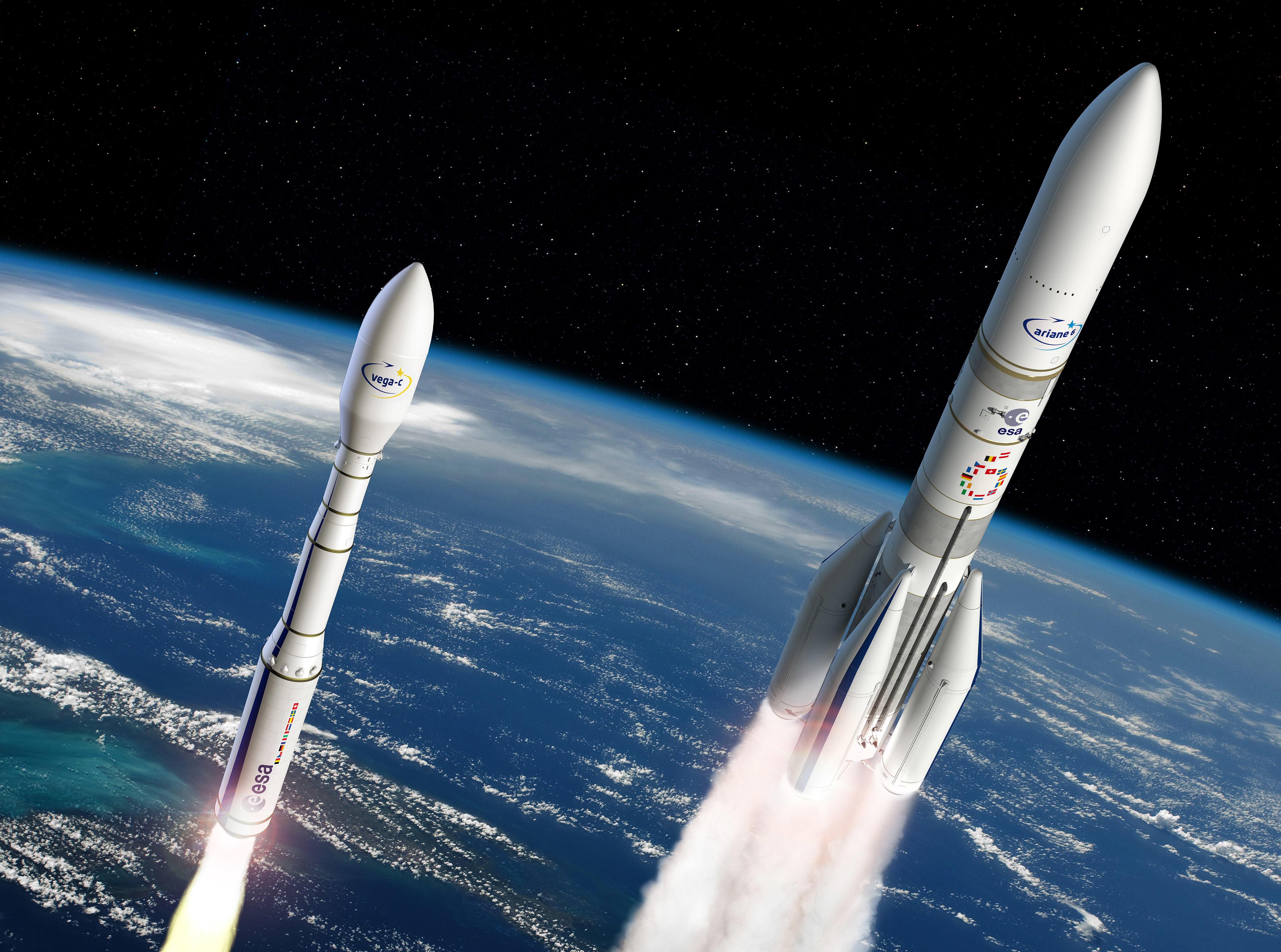 ракета, Ариан6, Ariane-6, Vega-C, Вега, ракетаноситель, космос, наука, техника, ESA, ЕКА