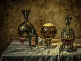 Фото бесплатно натюрморт, стол, предметы