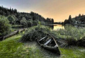 Бесплатные фото Закат на Лох-Арде,Аберфойл,Шотландия,озеро,мостик,лодка,причал