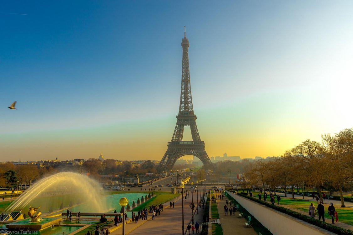 Фото бесплатно Франция, Паиж, Эйфелева башня, город - скачать на рабочий стол