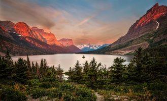 Фото бесплатно горы, закат, Национальный парк Глейшер