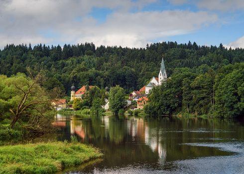 Фото бесплатно Австрия, река, дома