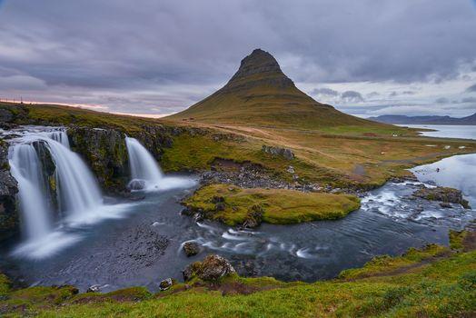 Бесплатные фото Исландия,Киркьюфетль гора,водопад,пейзаж
