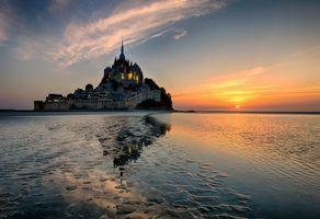 Фото бесплатно Mont St Michel, Мон-Сен-Мишель, Нижняя Нормандия