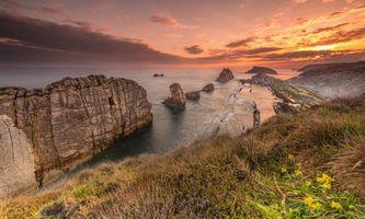 Фото бесплатно Playa de La Arnia, Cantabria, Spain