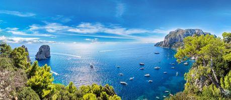 Фото бесплатно море, яхты, острова