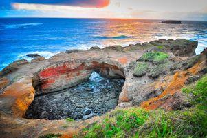 Бесплатные фото Оттер Рок,Орегон,Соединенные Штаты,море,скалы,пейзаж