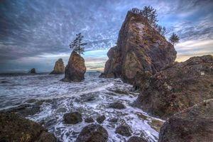 Фото бесплатно Olympic National Park, закат, море