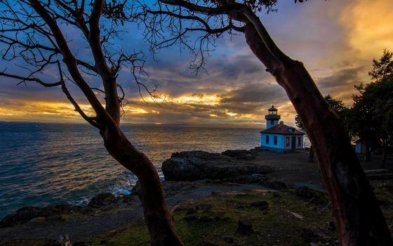 Бесплатные фото Вашингтон,Сан-Хуан Сан-Хуан-острова,закат,пейзаж