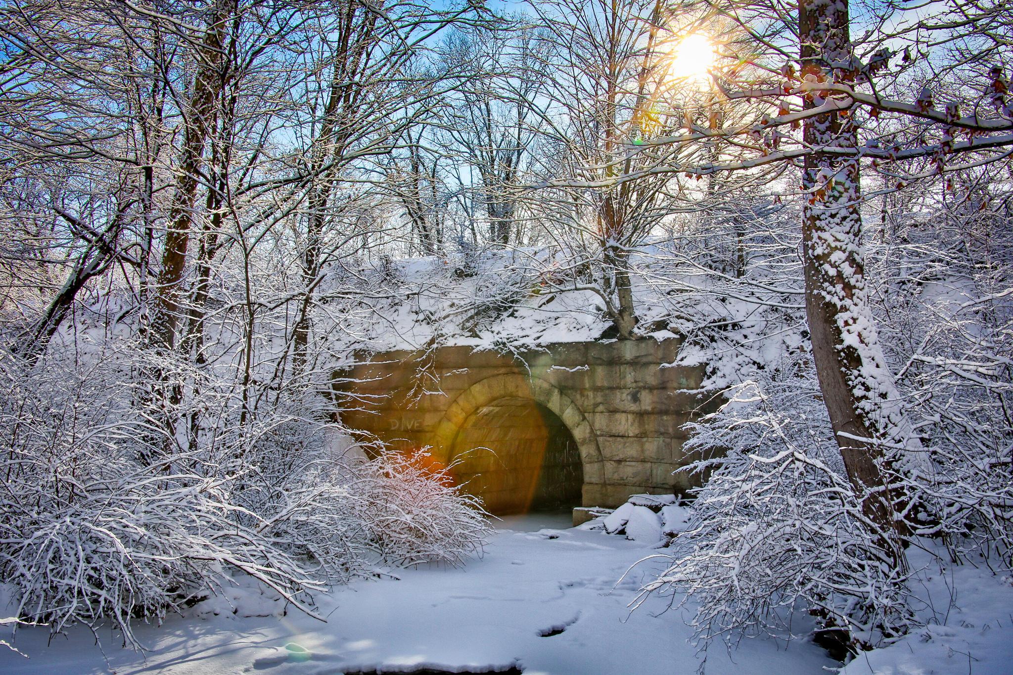 Обои Зима, Солнечный заряд, снег, Новая Англия